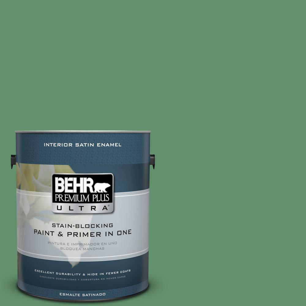BEHR Premium Plus Ultra 1-gal. #460D-6 Manchester Satin Enamel Interior Paint