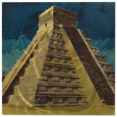 Brevium 22 in. x 22 in. Chichen Itza Metal Wall Art