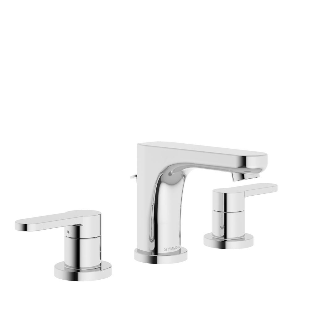 Identity 8 in. Widespread 2-Handle Bathroom Faucet with Pop-Up Drain Assembly