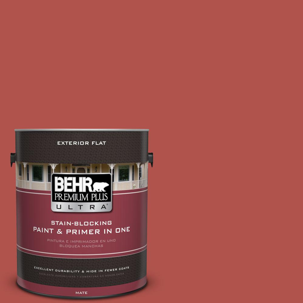 1-gal. #BIC-48 Fortune Red Flat Exterior Paint