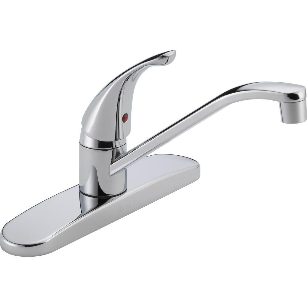 Peerless Core Single-Handle Standard Kitchen Faucet in Chrome ...