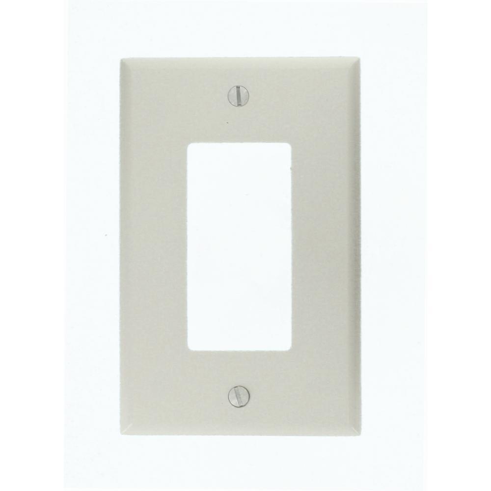 1-Gang Decora Midsize Wall Plate, White