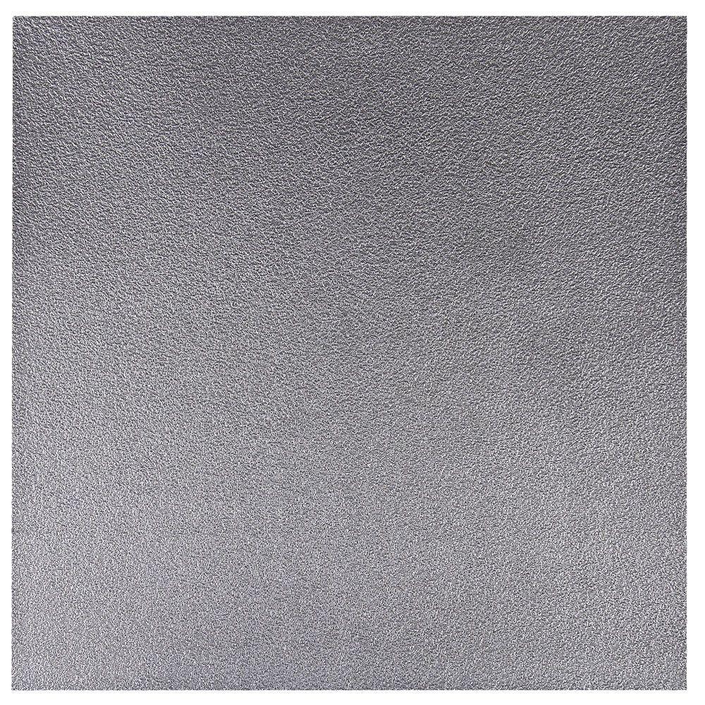 uDecor Verlans 2 ft. x 2 ft. Lay-in or Glue-up Ceiling Tile in Antique Nickel (40 sq. ft. / case)