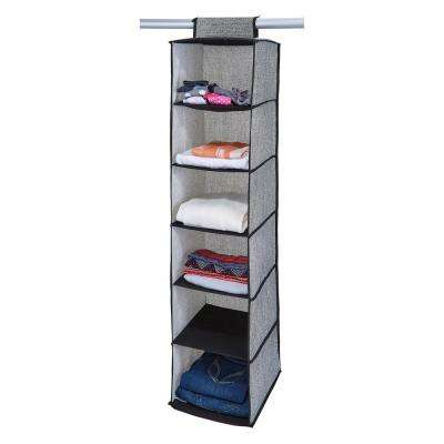 12 in. x 12 in. x 47 in. 6 Shelf Closet Organizer in Black