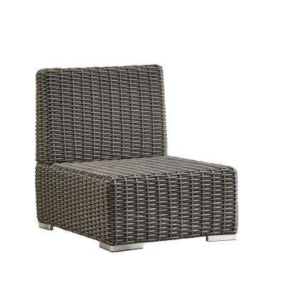 Camari Charcoal Wicker Armless Middle Outdoor Sectional Chair