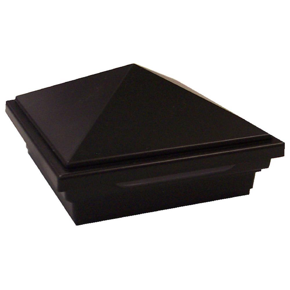 DeckLighting 4 in. x 4 in. Black LED Pyramid Post Sleeve Cap Light