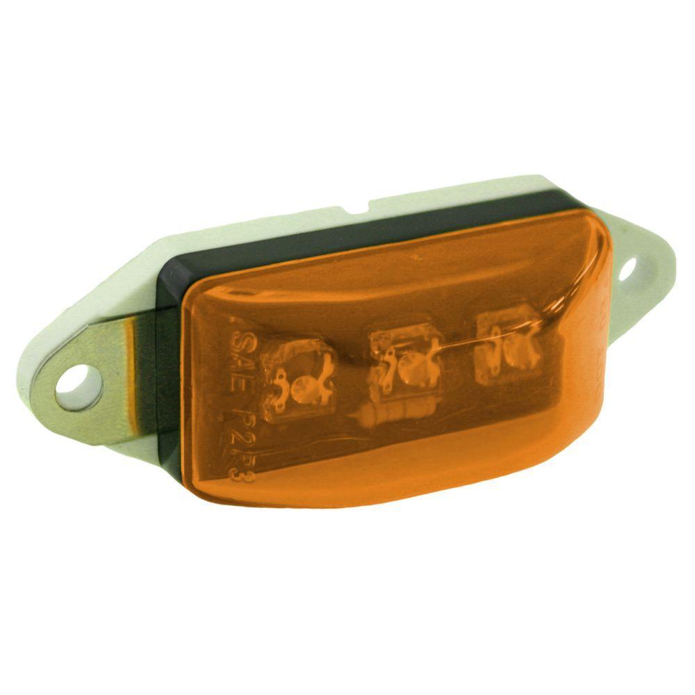 Clearance 2-3/4 in. LED Mini Marker Rectangular Light Amber