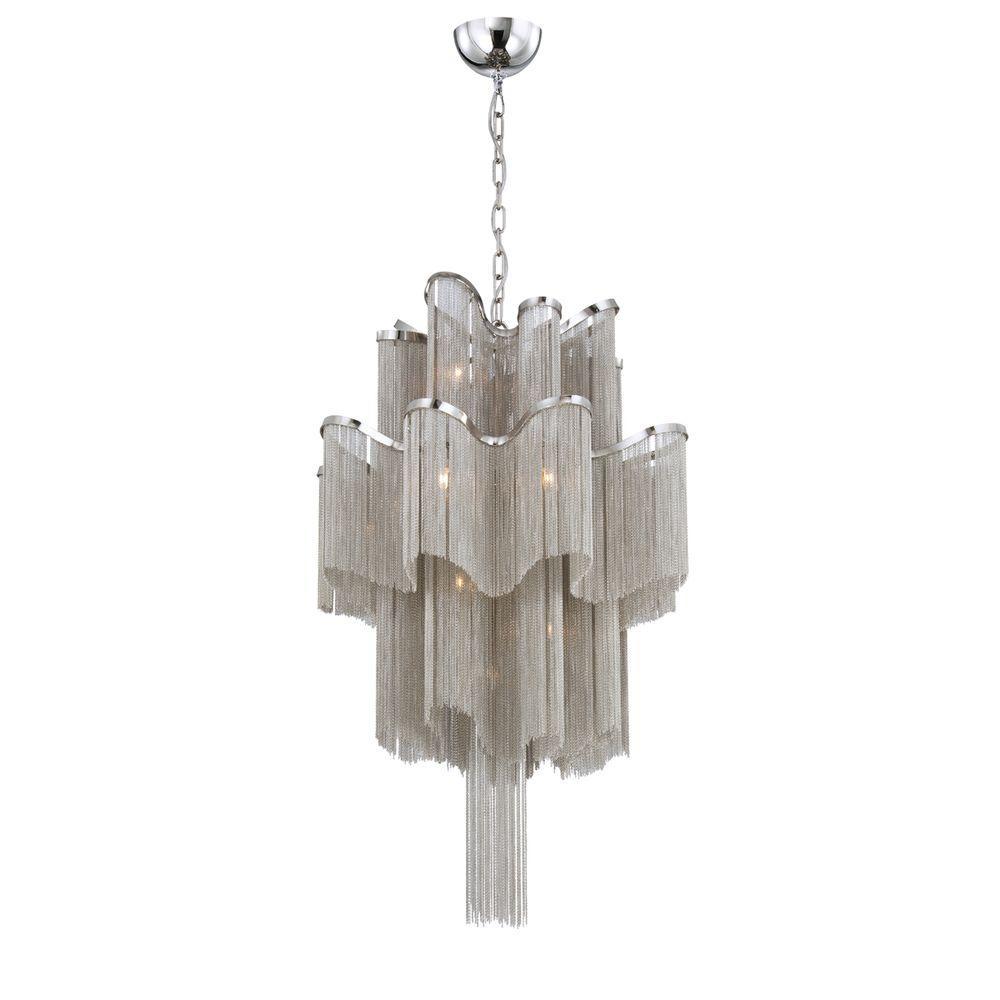 Eurofase Cadena Collection 12-Light Nickel Pendant