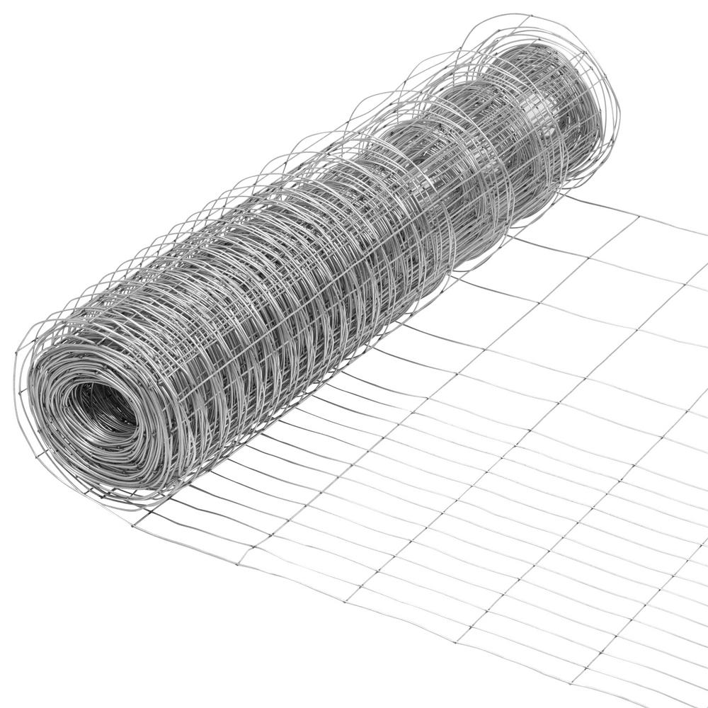 Everbilt 2 3 Ft X 50 Ft Steel Rabbit Garden Fence Welded Wire