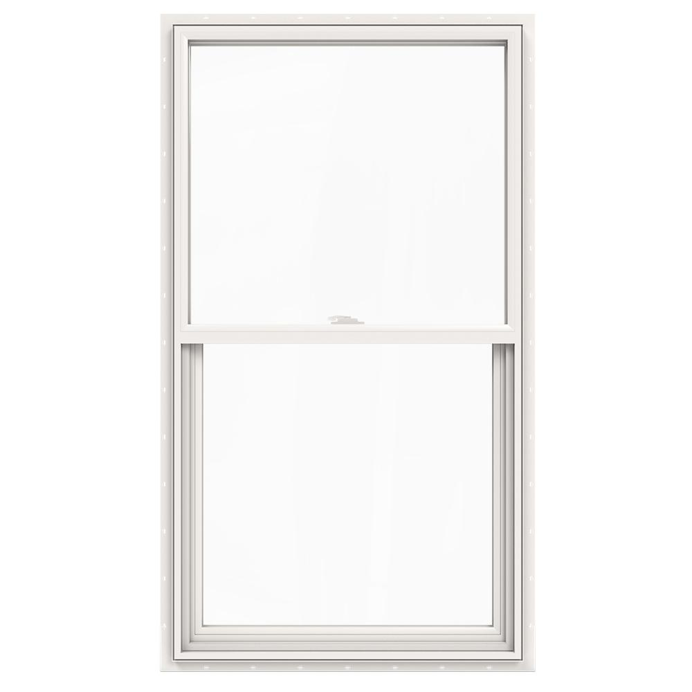 Jeld wen 30 in x 54 in v 2500 series single hung vinyl for Jeld wen windows