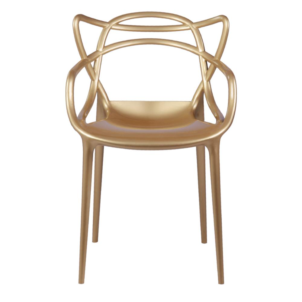 null gold brand name dining chair