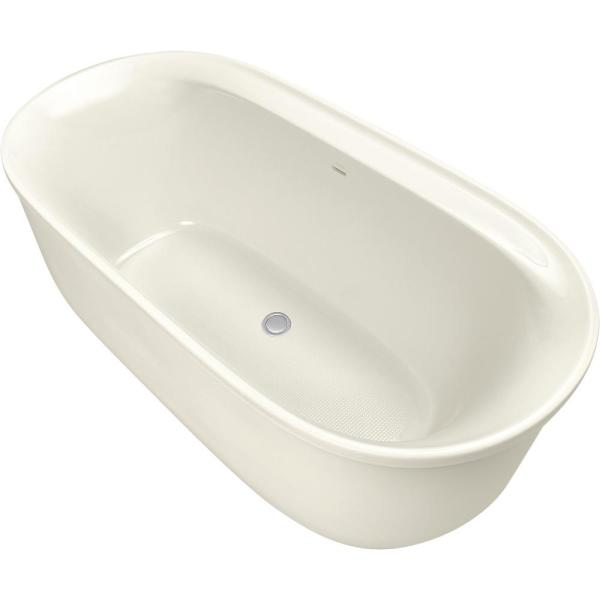 Spectacle 65.75 in. Acrylic Flatbottom Bathtub in White