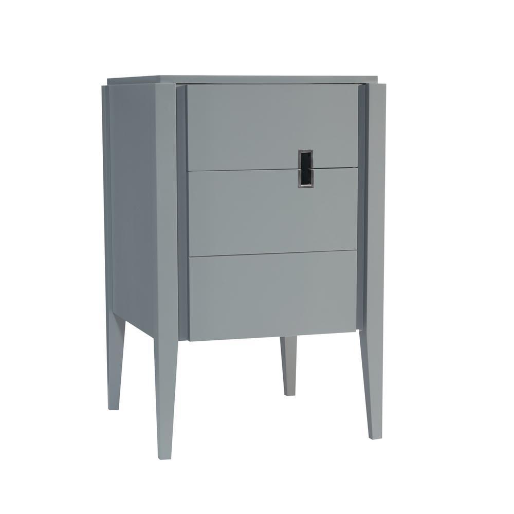 Zoe 24 in. W x 33.5 in. H Vanity Cabinet Only in Slate Gray