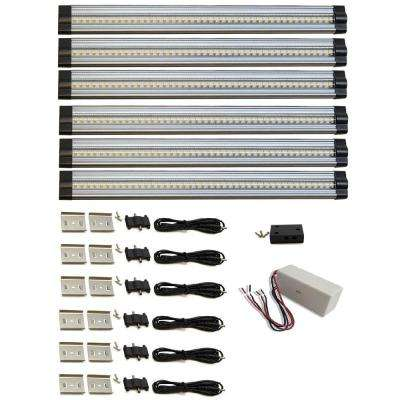 12 in. 4000K Neutral White Dimmable LED 6-Strip Light Hard-Wired, Dimmable Kit, 6-Piece Kit