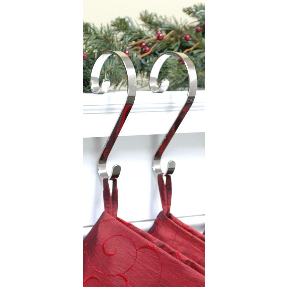 haute decor stocking scrolls stocking holders silver 2 pack