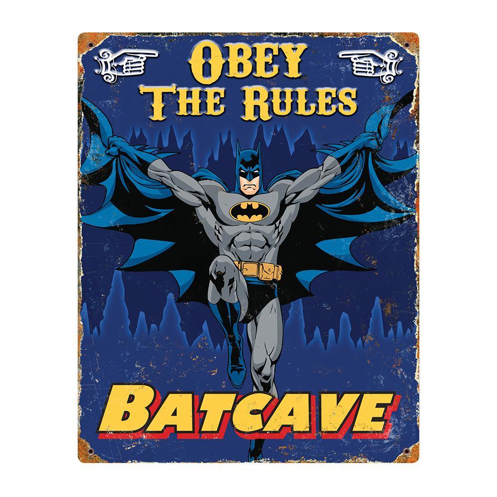 Batman Embossed Metal Sign