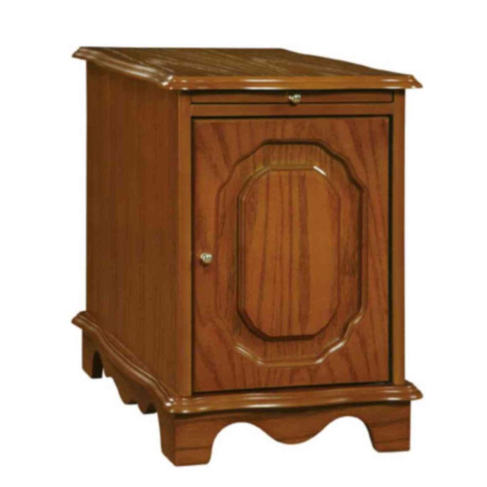 Nostalgic Oak Storage Cabinet Table