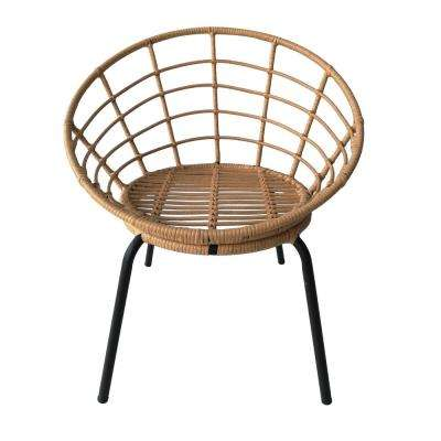 29.5 in. Natural Brown Metal Chair