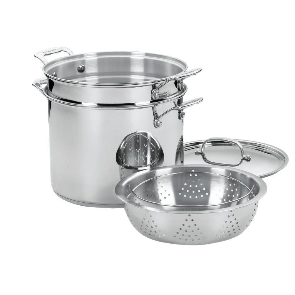 Chef's Classic Stainless Steel 12 Quart Pasta/Steamer Set
