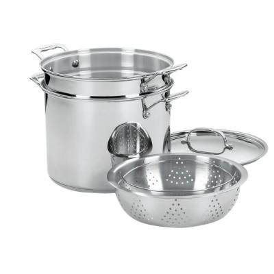 Chef's Classic Stainless Steel 12 Quart Pasta/Steamer Set