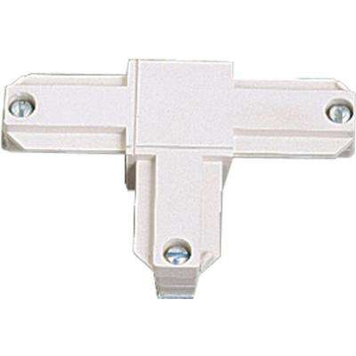 White Track Accessory T Connector - Inside Left Polarity