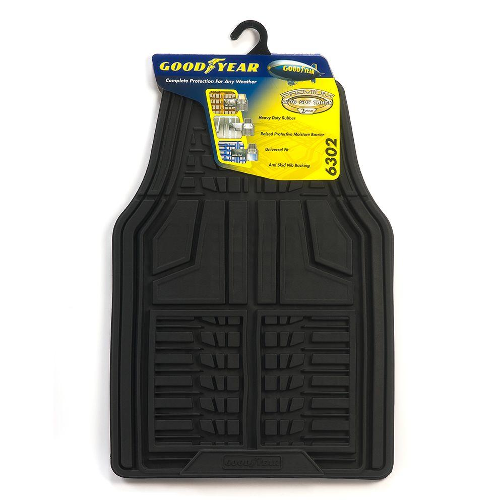 Goodyear Premium Rubber Front Mats with Deep Basin Containment (2-Piece)