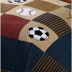 My World Classic Sports Twin Quilt with Pillow Sham