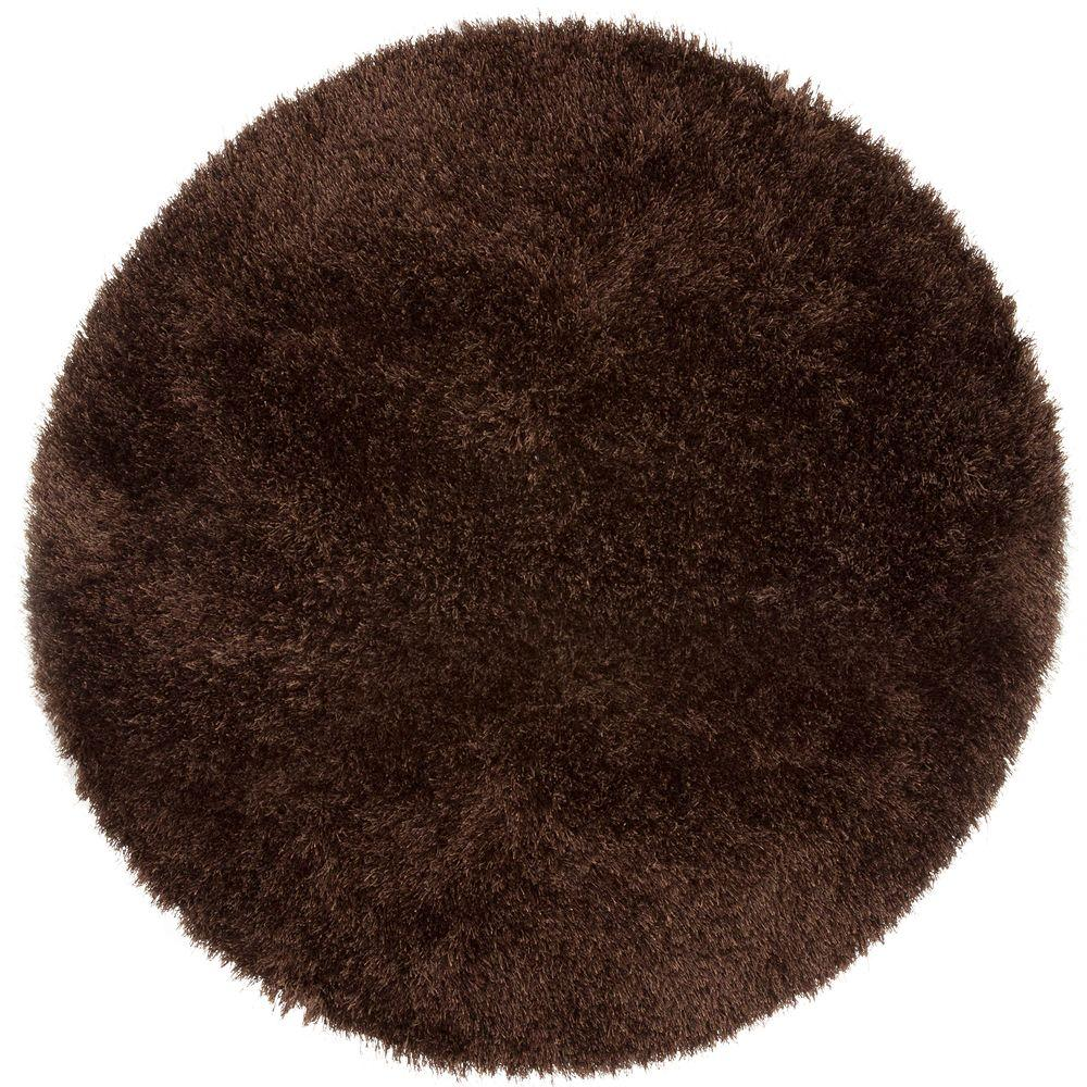 Shag Chocolate 5 ft. x 5 ft. Area Rug