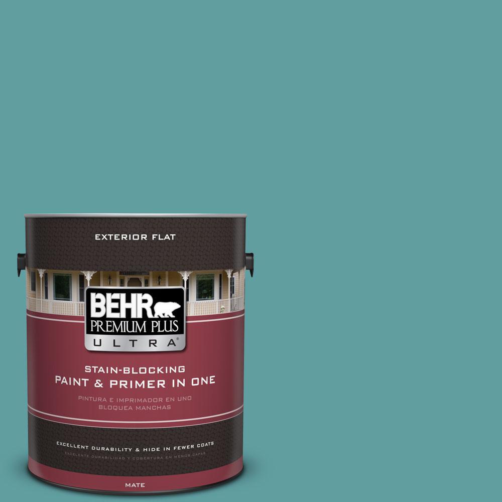 BEHR Premium Plus Ultra 1-Gal. #PPU13-5 Bali Bliss Flat Exterior Paint