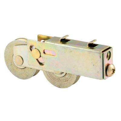 1-1/2 in. Steel Ball Bearing Sliding Door Tandem Roller Assembly with 3/4 in. x 1-1/32 in. Housing