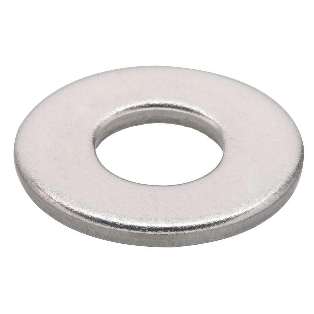 Everbilt #6 Stainless Steel Flat Washer (50-Pieces)