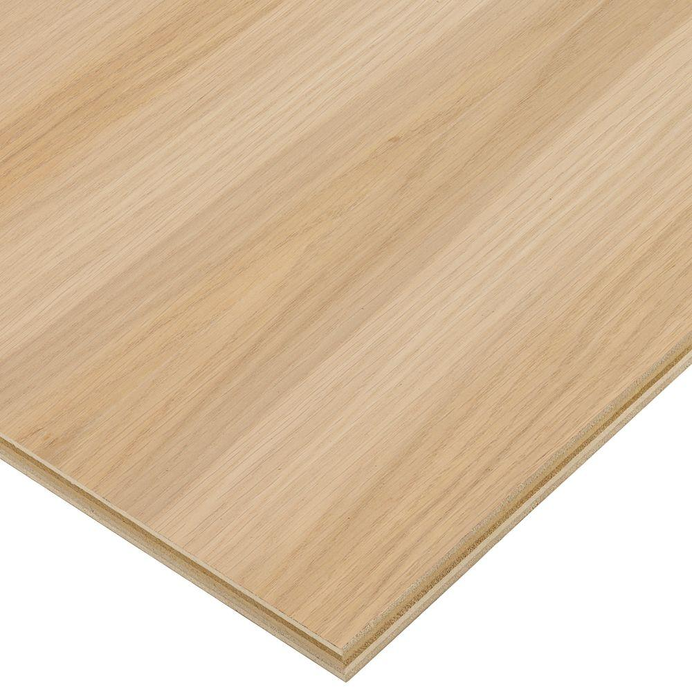 Columbia Forest Products 3/4 in. x 4 ft. x 4 ft. PureBond White Oak Plywood Project Panel (Free Custom Cut Available)