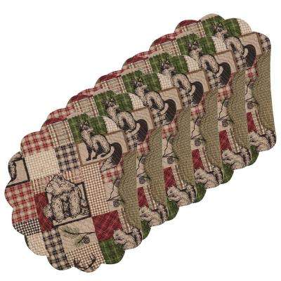 Caleb Round Brown Placemat (Set of 6)