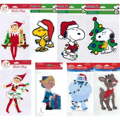 6 in. x 10 in. Assorted Christmas License Gel Clings