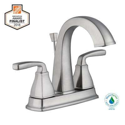 Mason 4 in. Centerset 2-Handle High-Arc Bathroom Faucet in Brushed Nickel