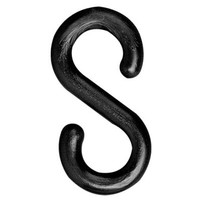 2 in. Black S-Hook (25-Pack)