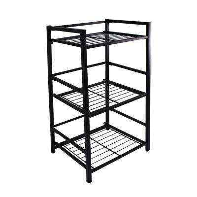 3-Shelf Narrow 14.5 in. W x 30.5 in. H x 12 in. D Steel Shelf