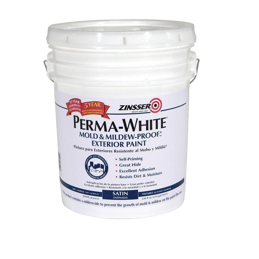 Zinsser 5-gal. Perma-White Satin Exterior-DISCONTINUED