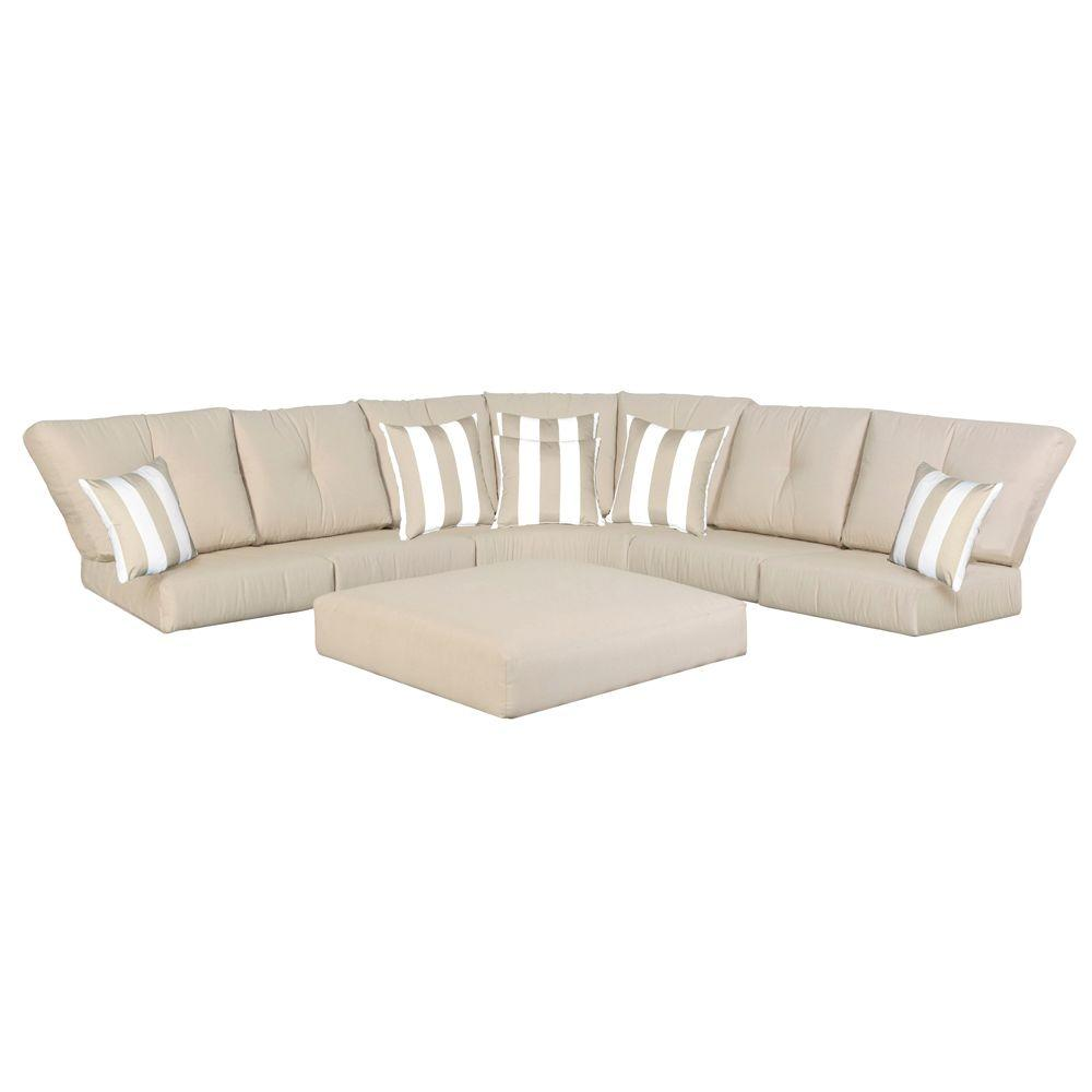 Hampton Bay Mill Valley Replacement Patio Sectional Sofa Cushion