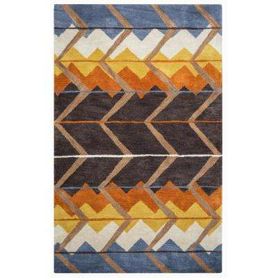 Tumble Weed Loft Multicolor Southwestern Hand Tufted Wool 9 ft. x 12 ft. Area Rug