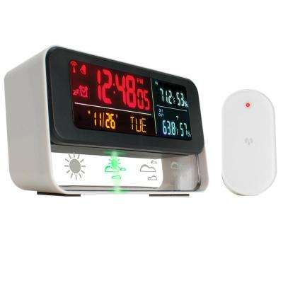 Digital Weather Station with Built-In Alarm Clock, Barometric Outdoor Sensor and LED Display