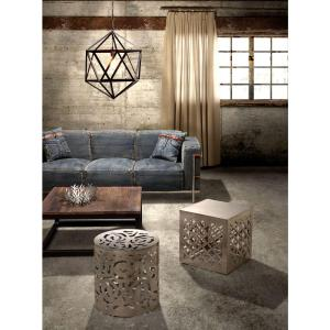 ZUO Kihei Stainless Steel End Table by