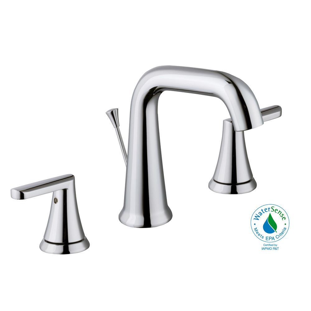 Glacier Bay Jax 8 in. Widespread 2-Handle High-Arc Bathroom Faucet ...