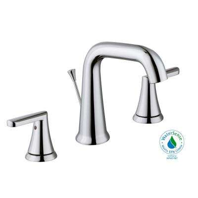 Jax 8 in. Widespread 2-Handle High-Arc Bathroom Faucet in Chrome