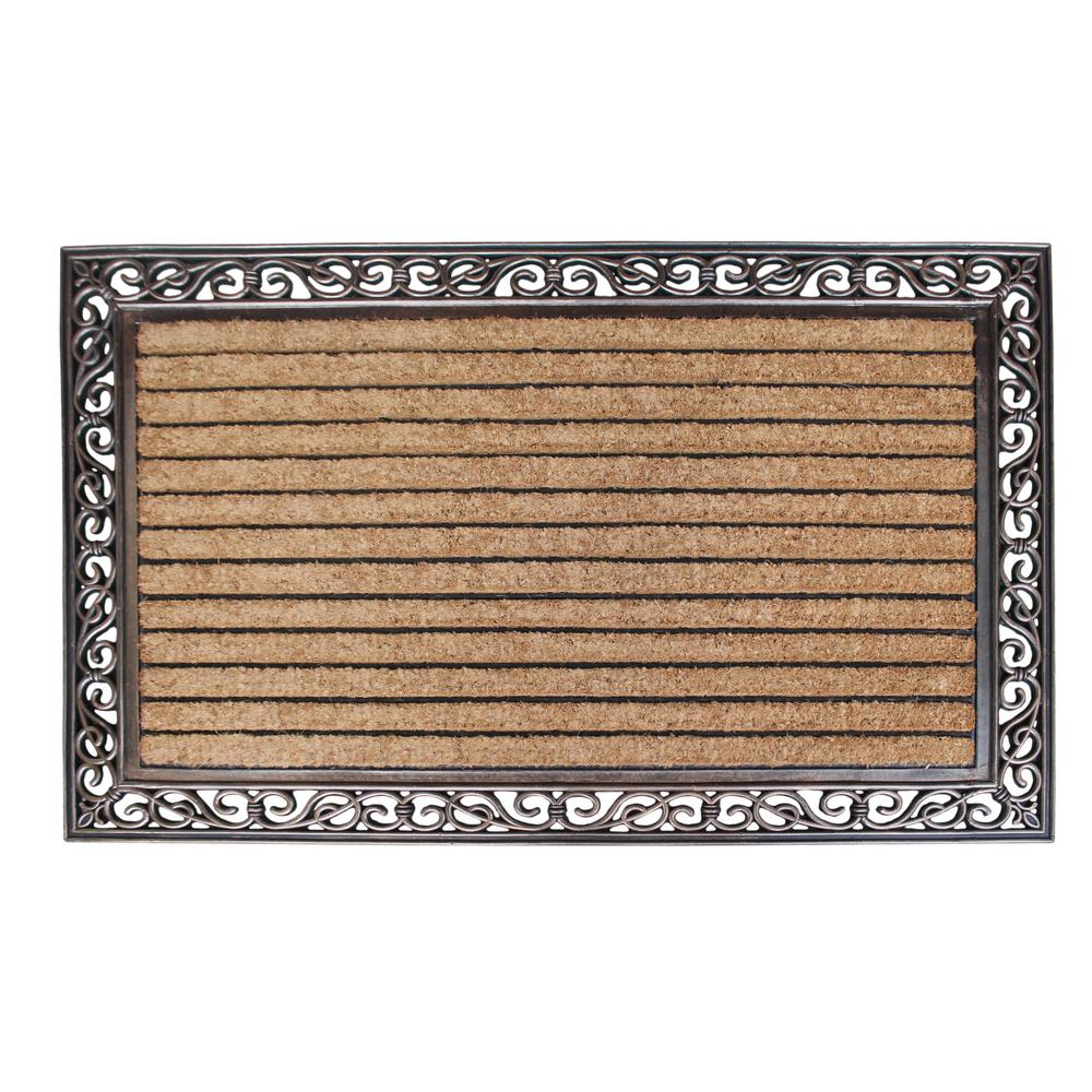 A1hc First Impression Molded Large Double Striped 30 In X 48 Coir Door