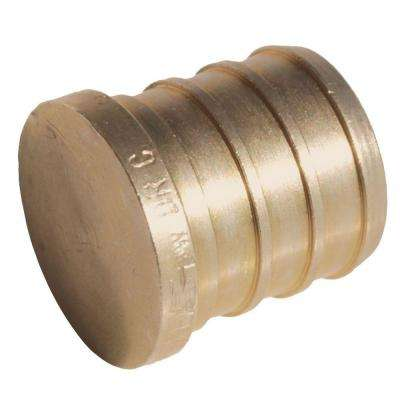 3/4 in. PEX Barb Brass Plug Fitting (5-Pack)