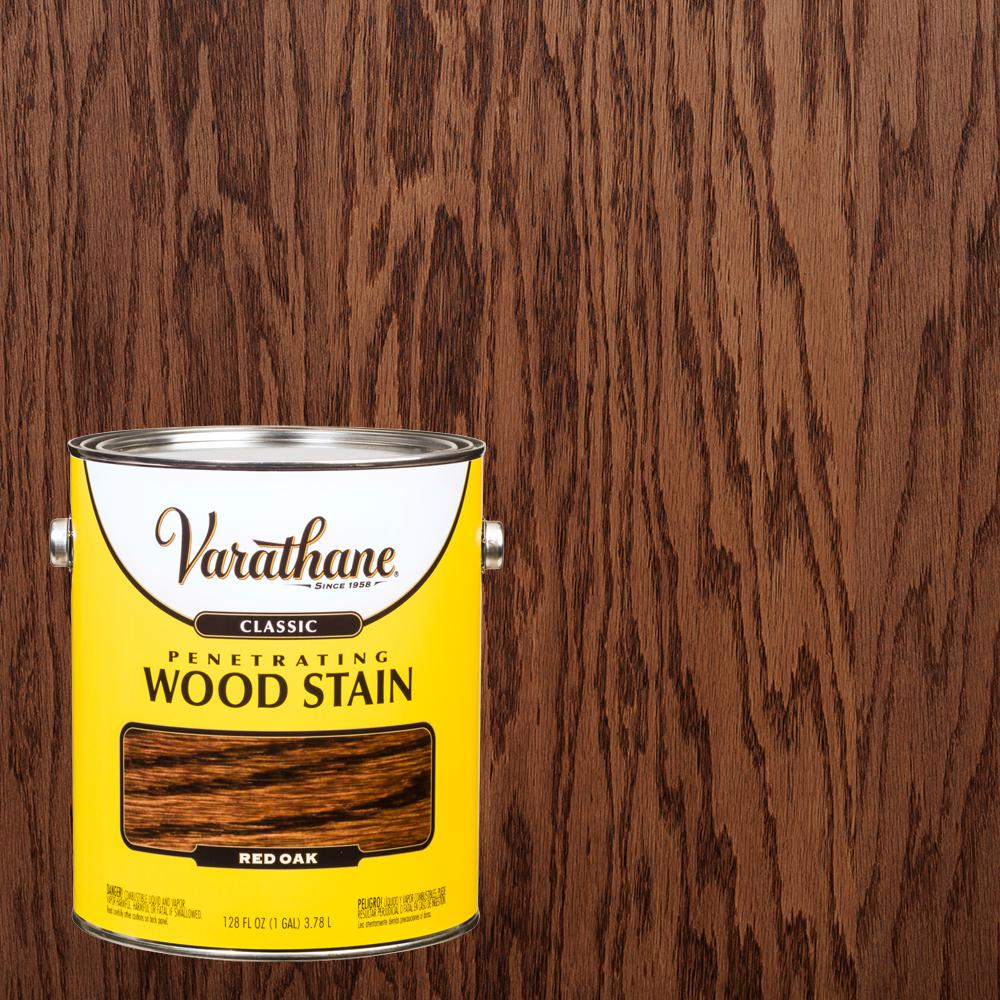 Varathane 1 Gal Red Oak Classic Wood Interior Stain 340622 The Home Depot