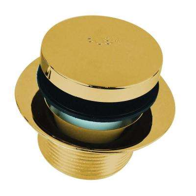 1.865 in. Overall Diameter x 11.5 Threads x 1.25 in. Foot Actuated Bathtub Closure, Polished Brass