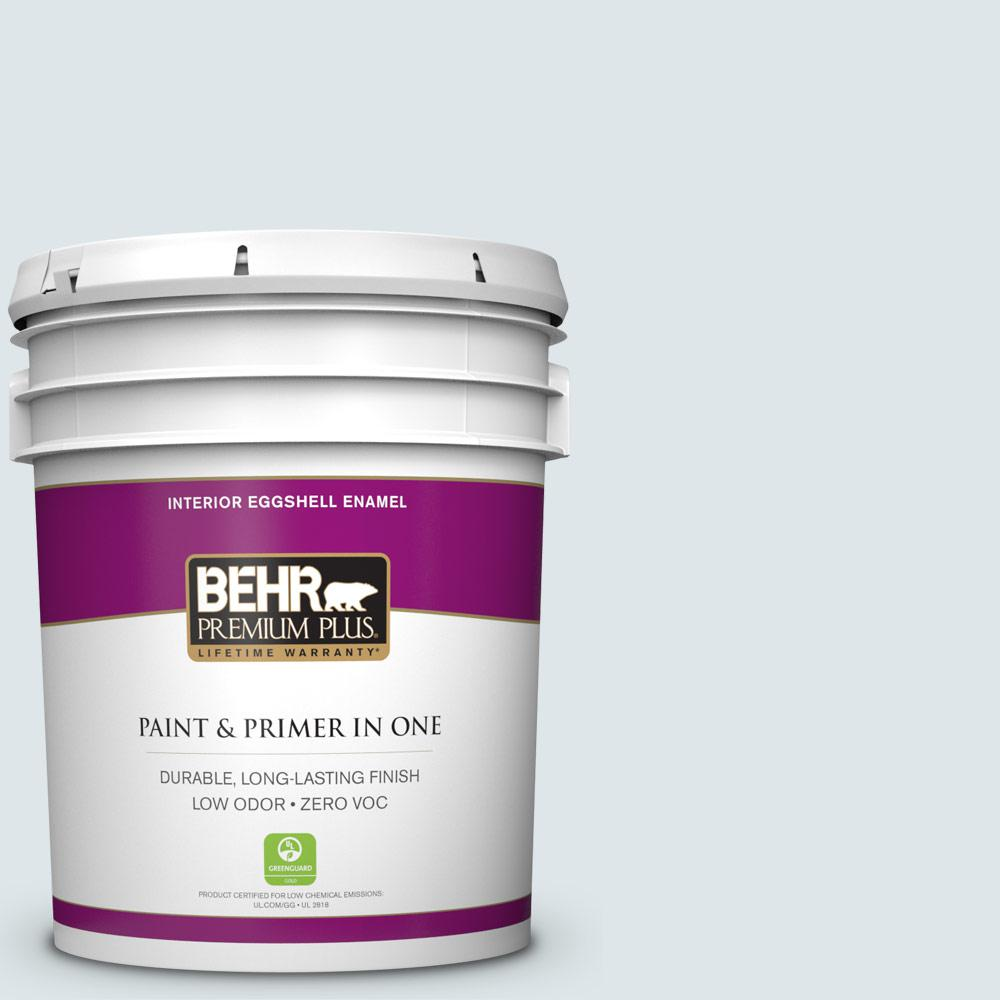 BEHR Premium Plus 5-gal. #BL-W3 Blue Bird Day Eggshell Enamel Interior Paint