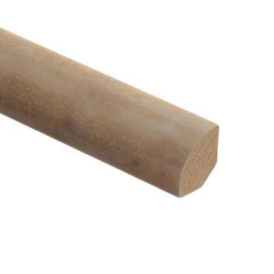 Aegean Travertine Ivory 5/8 in. Thick x 3/4 in. Wide x 94 in. Length Vinyl Quarter Round Molding